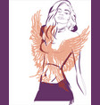 phoenix girl abstract concept vector image