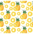 Pineapple seamless pattern Ananas slices endless vector image