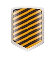 silhouette metallic shield with striped lines vector image