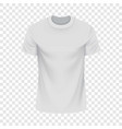White tshirt mockup realistic style vector image