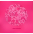 Line Wedding Icons Circle Concept vector image