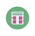in flat design of calculator vector image