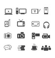 big data icon set entertainment vector image