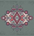tribal art boho hand drawn geometric pattern vector image