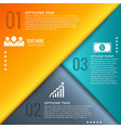 abstract business geometric infographics vector image
