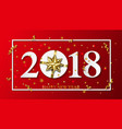 2018 happy new year red background with vector image
