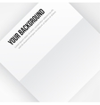 paper template banner White note vector image