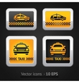 taxi cab set buttons on background pixel vector image vector image