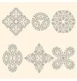Set of geometrical emblems vector image vector image