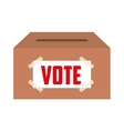 vote box isolated icon design vector image