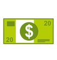 dollar bill isolated icon design vector image