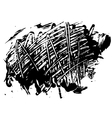 blot spot of black paint vector image