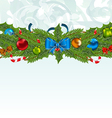 Christmas background with holiday decoration vector image