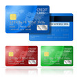 Credit Card 2 sides vector image