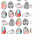 hand written easter phrases greeting card text vector image