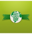 Happy Earth Day paper Emblem vector image
