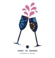 holiday fireworks toasting wine glasses vector image