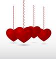 Red volumetric hearts vector image
