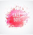 sale-pink-spot vector image
