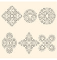 Set of geometrical emblems vector image