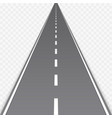 straight road with markings vector image