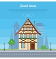 Sweet Home House Banner Poster Template vector image