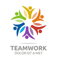 teamwork people human colorful design vector image