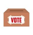 vote box isolated icon design vector image