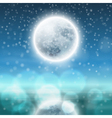 Winter night landscape with fullmoon vector image
