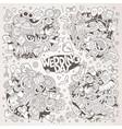 wedding and love sketchy doodle designs vector image