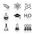 chemistry icons for learning and web appl vector image vector image