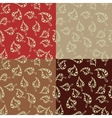 set of seamless pattern with leaves vector image