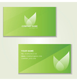 Design of green visited card vector image