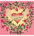 Heart roses and thorns vector image vector image