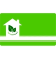 business card with house and leaf vector image vector image