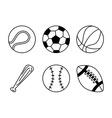 balls sport design vector image