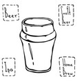 beer glass nonic pint type hand drawn vector image