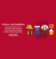 culture and traditions germany banner horizontal vector image