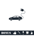 Electric car icon flat vector image