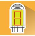 icon set with radio tubes vector image