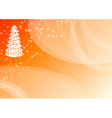 orange christmas vector image