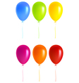 Set Colorful balloons vector image