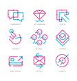 User Experience Icons vector image