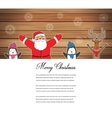 Santa Claus with Reindeer and Penguins Cartoon vector image