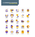 modern material flat design icons - e-commerce vector image vector image