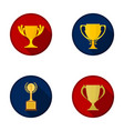 cupwineer cup set collection icons in flat style vector image