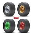 Set of sports car colorful wheels vector image