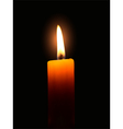 Yellow candle vector image vector image