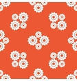 Orange cogs pattern vector image