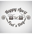 April fools day emblem vector image vector image